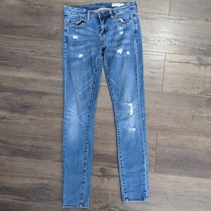 Blank NYC Distressed Skinny Clasique Jeans Size 27